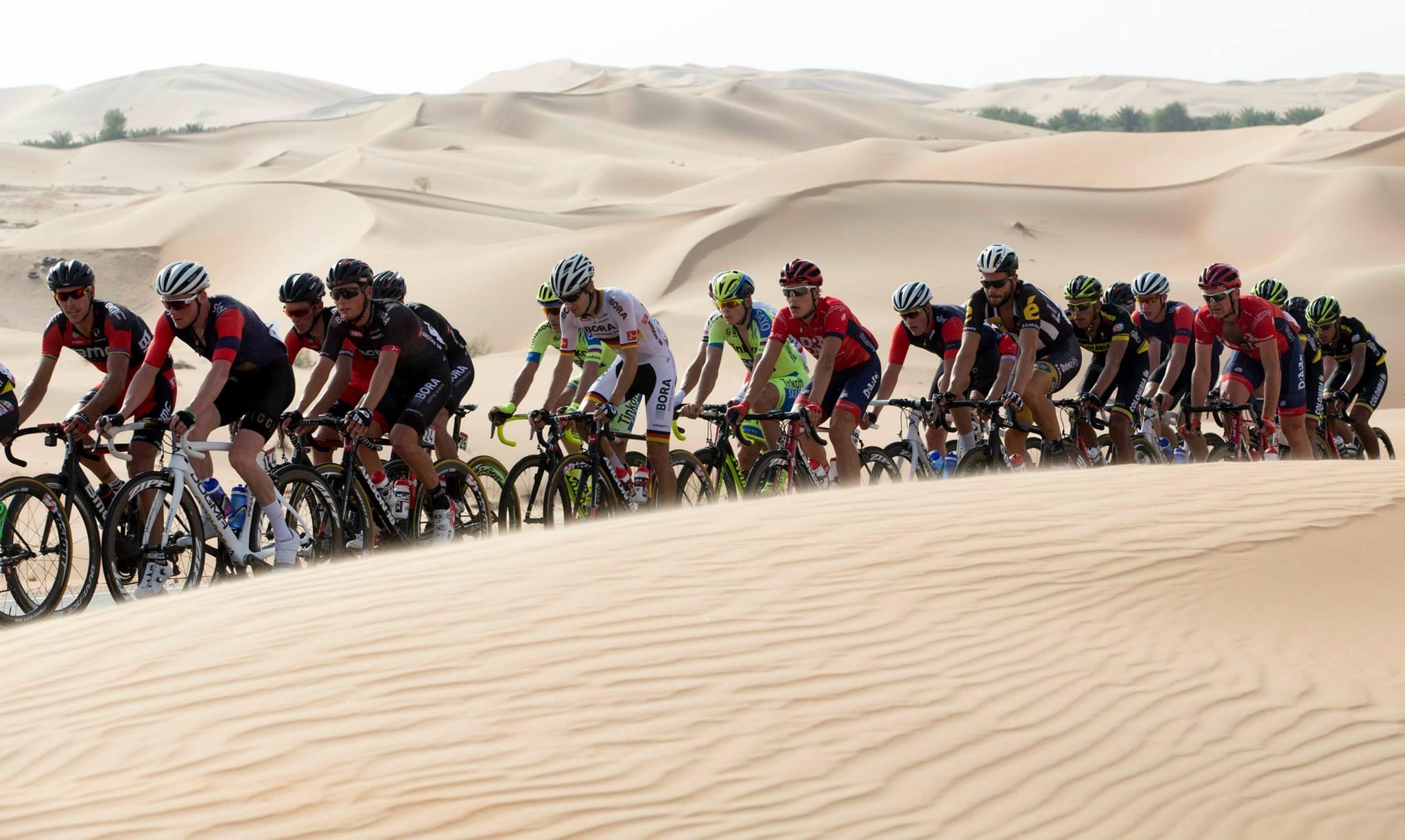 The desert. Hot.
