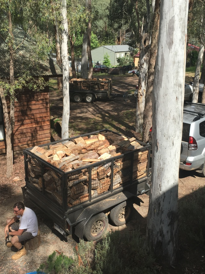 two full trailer loads - 8 cubic metres of wood!